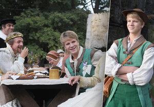 Mladý herec Piškula prozradil historky z natáčení pohádky Tři bratři.