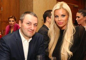 Slovenská modelka Silvia Kucherenko s ukrajinským manželem Sergejem