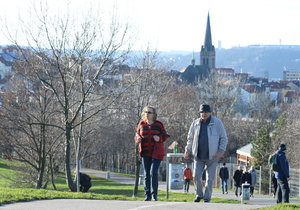 V Česku v pondělí padaly teplotní rekordy platné pro první únorový den.