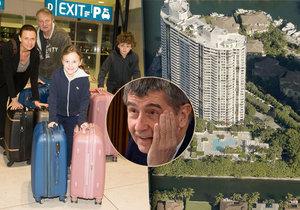 Režisér Jiří Adamec s manželkou Janou dětmi odletěli na Floridu, kde mají vlastní byt. Blízko Andreje Babiše!