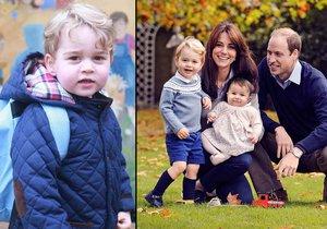 Princ George začal chodit do školky.