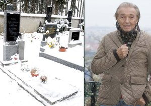 Na hrobě rodičů těžce nemocného Karla Gotta řádili zloději? Z hrobu zmizela vánoční výzdoba. Možná bylo vše ale trochu jinak.