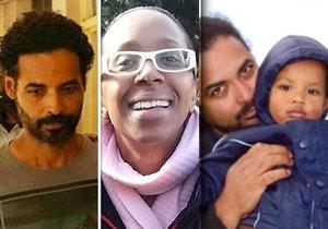 Policisté vypátrali přítele britské herečky, který je podezřelý z její vraždy a vraždy svých synů.