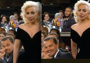 Leonardo DiCaprio se vysmál vítězství Lady Gaga na Zlatých glóbech.