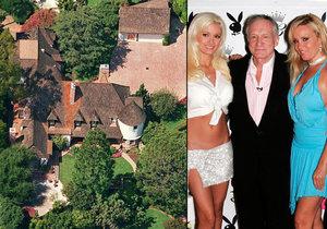 """Šéf Playboye Hugh Hefner prodává své """"doupě hříchu""""."""