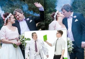 Svatba hamižného bankéře z reklamy!