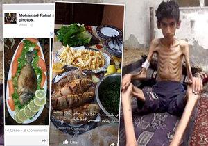 Cynici posílají fotky svých delikates hladovějícím lidem z Madáji.