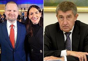 Petr Fiala a Alexandra Udženija (ODS) vs. Andrej Babiš (ANO)