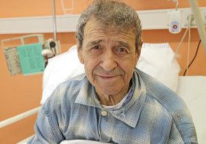 František Peterka v nemocnici