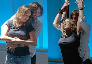 Lucie Vondráčková s Petrem Čadkem předvedli velmi žhavý tanec.