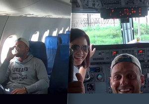 Alex Simon byl jediným cestujícím ve filipínském letadle.