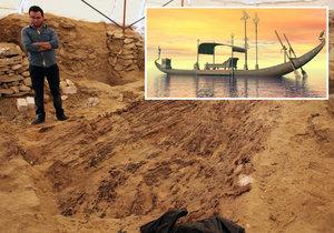 Čeští archeologové na pohřebišti v egyptském Abúsíru nedaleko Káhiry našli 18 metrů dlouhou, 4500 let starou loď!