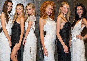 České Miss si zkoušely šaty na Ples v Opeře a můžeme se těšit na odhalená stehna i odvážné dekolty.