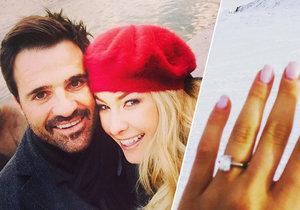 Simona Dvořáková se zasnoubila se svým přítelem.