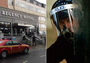 Na fanoušky boxu střílel v Dublinu muž v policejní uniformě. Pálil ze samopalu AK-47. Jeden muž zemřel.