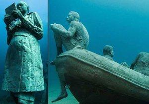 Unikátní podvodní galerie Museo Atlantico u Kanárských ostrovů