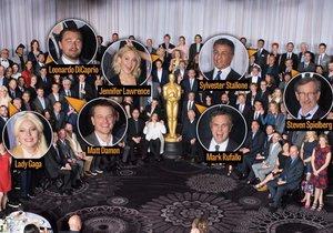 Slavní nominovaní na Oscary se sešli na obědě.