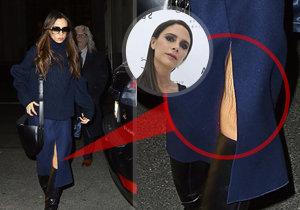 Viktoria Beckham odhalila vrásčité koleno.