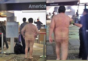 """Muž přišel na letiště v Nashvillu úplně nahý. Asi plánoval cestovat """"na lehko""""..."""