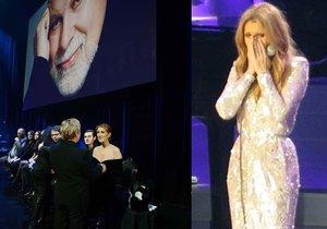 Céline Dion se vrátila na jeviště a neubránila se slzám.