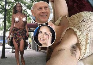 Dcera Demi Moore a Bruce Willise umí provokovat.