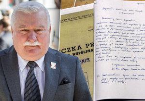Podle dokumentů měl polský exprezident Lech Walesa donášet na zhruba 20 lidí. Šlo o dělníky připravující stávku.