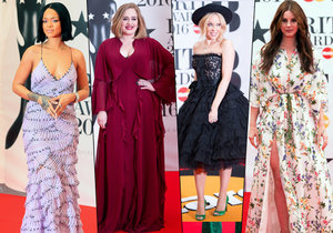 Přehlídka šatů na hudebních cenách Brit Awards 2016