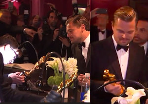 Leonardo DiCaprio málem zemřel úzkostí, když měl počkat pár okamžiků, než mu na Oscara vyryjí jméno.