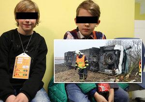 Jakub a Vašek popsali hrůznou nehodu.