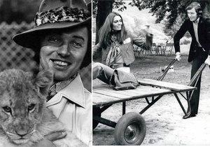 Karel Gott a jeho kočičky.