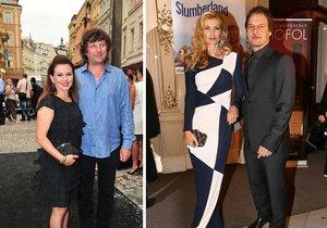 Dana Morávková s manželem Pavlem Maláskem a Pavol Habera s Danielou Peštovou