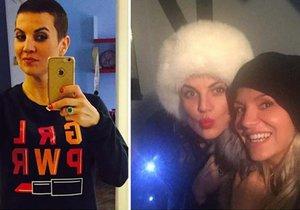 Dara Rolins se raduje. Její kamarádka Eva Skallová poráží rakovinu.