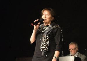 Marta Kubišová v Divadle Ungelt s jeho ředitelem Milanem Heinem.
