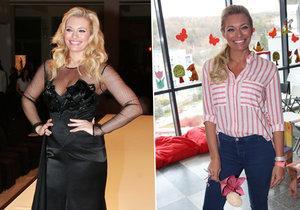 Lucie Borhyová je hubená jako laňka.