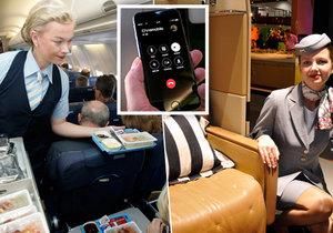 Tajemství letecké dopravy: Proč se nesmí telefonovat, jak se dostat do první třídy a proč nám v letadle nechutná?