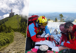 Muž (36) ležel na Lysé hoře jen v trenýrkách. Zachránili ho na poslední chvíli