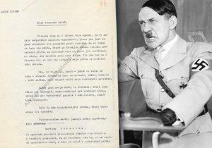 Jak vypadala závěť Adolfa Hitlera, jejíž dobový překlad je mezi unikáty Archivu bezpečnostních složek v Praze?