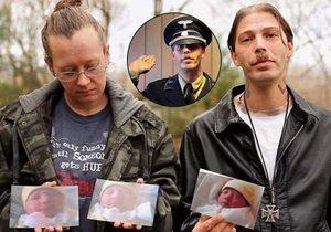 Neonacista pojmenoval své děti po Adolfu Hitlerovi a Evě Braun. Sebrali mu je.