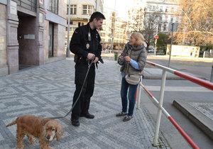 Panička a Ben se strážníky Městské policie
