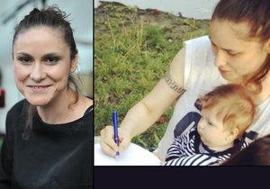 Lenka Dusilová promluvila o otci svého dítěte.