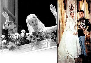 Svatba monackého knížete Rainiera III. s populární americkou herečkou Grace Kelly