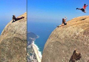 Brazilská hora Pedra da Gávea přitahuje turisty, kteří neváhají kvůli perfektním fotkám riskovat vlastní život.