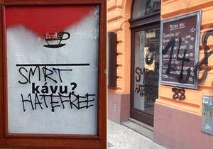 Vandalové v noci na neděli poškodili několik podniků, které jsou zapojeny do sítě HateFree Zone.