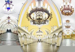 Moskevské stanice metra jsou uměleckým dílem.