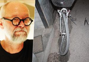 Brněnský architekt (†56) objížděl na kole auto: Řidič ho dveřmi srazil na koleje.