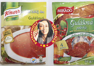 Tři výrobci gulášovek tahají spotřebitele za nos!