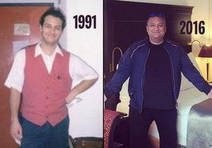 Tyhle snímky dělí 25 let.
