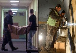 Policie zasahovala v ČKD už v roce 2014 (vlevo). Současné vyšetřování může souviset s pracemi, které firma prováděla v tunelu Blanka. ČKD tam dodávala problematické kabely. (ilustrační)