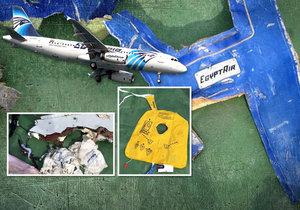 První foto trosek havarovaného letounu společnosti EgyptAir.