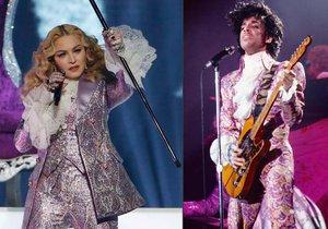 Popová královna a Prince. Tak to vypadalo v Las Vegas, kde Madonna uctila památku nedávno zesnulého zpěváka.